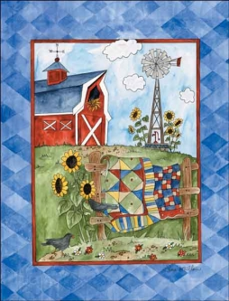 Summer Farmyard by Sara Mullen Ceramic Accent & Decor Tile SM053AT