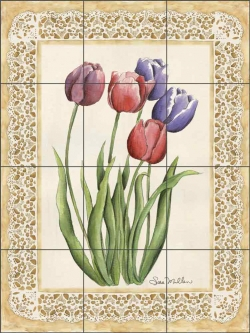 My Mother's Garden by Sara Mullen Ceramic Tile Mural SM059