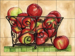 Macintosh Basket by Sara Mullen Ceramic Tile Mural SM080