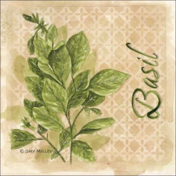 Basil by Sara Mullen Ceramic Accent & Decor Tile - SM086AT
