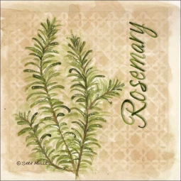 Rosemary by Sara Mullen Ceramic Accent & Decor Tile - SM089AT