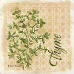 Thyme by Sara Mullen Ceramic Tile Mural - SM091