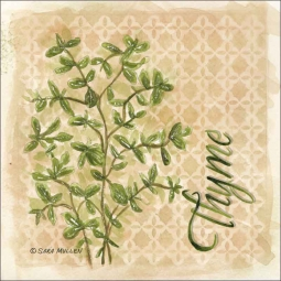 Thyme by Sara Mullen Ceramic Accent & Decor Tile - SM091AT