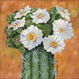 Saguaro Cactus by Sara Mullen Ceramic Accent & Decor Tile - SM109AT