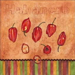Fiesta Peppers - Habanero by Sara Mullen Ceramic Accent & Decor Tile - SM118AT