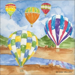 Hot Air 1 by Sara Mullen Ceramic Accent & Decor Tile - SM132AT