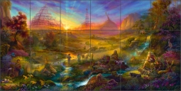 The Becoming by Tom duBois Ceramic Tile Mural - TDA011