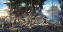 The Gathering by Tom duBois Ceramic Tile Mural TDA019