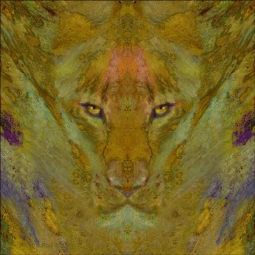 Lioness by Tom duBois Ceramic Accent & Decor Tile - TDA044AT