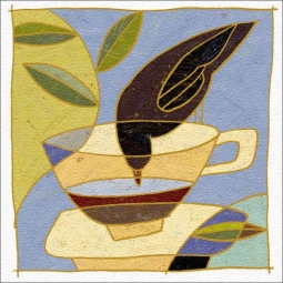 Drinking Bird Cup by Traci O'Very Covey Floor Accent Tile - TOC005AT