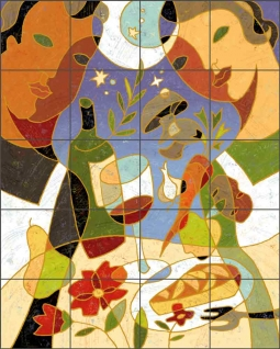 Comfort Food by Traci O'Very Covey Ceramic Tile Mural TOC008
