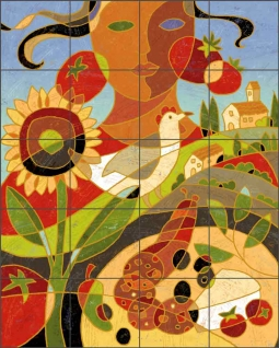 Tuscan by Traci O'Very Covey Ceramic Tile Mural TOC009