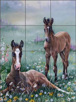Time Out by Verdayle Forget Ceramic Tile Mural - VFA019