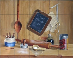 Lil' Chef by Verdayle Forget Ceramic Tile Mural VFA022