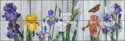 Wall Flowers by Verdayle Forget Ceramic Tile Mural - VFA023