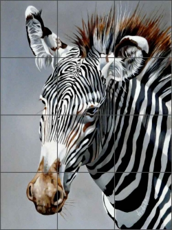 Grevy's Baby by Verdayle Forget Ceramic Tile Mural - VFA025