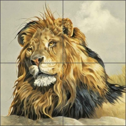 Lion King by Verdayle Forget Ceramic Tile Mural - VFA027