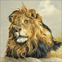 Lion King by Verdayle Forget Ceramic Accent & Decor Tile - VFA027AT