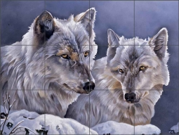 Wolves by Verdayle Forget Ceramic Tile Mural - VFA028