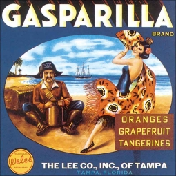 Gasparilla Label by DP Art  Ceramic Accent & Decor Tile - VLA072AT