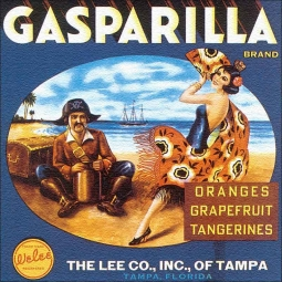 Gasparilla Label by DP Art Floor Accent Tile - VLA072AT
