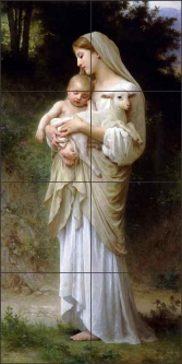 L'innocence by William Bouguereau Ceramic Tile Mural WB2058