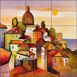 Mediterranean I by Warren Cullar Ceramic Tile Mural - OB-WC10