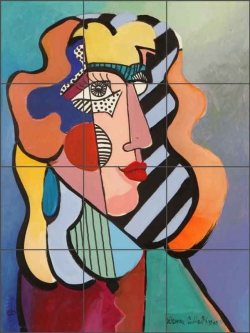 Cullar Pop Art Woman Ceramic Tile Mural - WC111