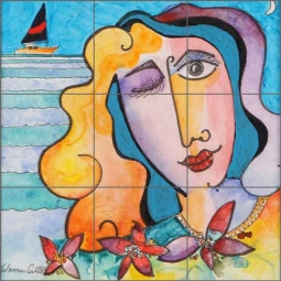 Cullar Seascape Pop Art Ceramic Tile Mural - WC112