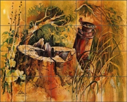 Cullar Country Life Landscape Ceramic Tile Mural - WC115
