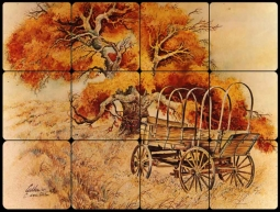 Autumn West by Warren Cullar Tumbled Marble Tile Mural - WC116
