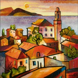 Mediterranean II by Warren Cullar Ceramic Accent & Decor Tile - WC11AT