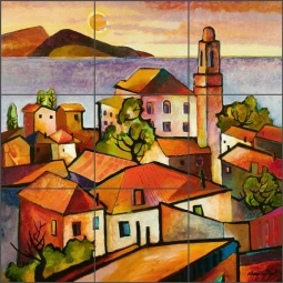 Mediterranean II by Warren Cullar Ceramic Tile Mural - WC11
