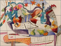 Cullar Musical Still Life Ceramic Tile Mural - WC120