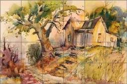 Cullar Country Life House Ceramic Tile Mural - WC126