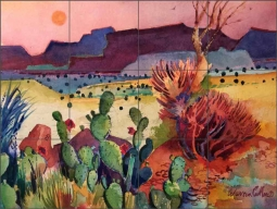 Apache Country by Warren Cullar Ceramic Tile Mural WC131