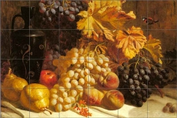 Hughes Grapes Fruit Ceramic Tile Mural - WH2001