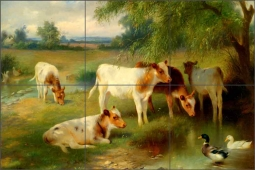 Summer by Walter Hunt Ceramic Tile Mural WH4001